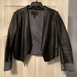 "BCBGMAXAZRIA ""leather"" blazer medium"